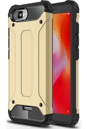 Telefonaksesuarı Xiaomi Redmi 6 Kılıf Zırhlı Tam Koruma Silikon Zırhlı Armor Arka Kapak