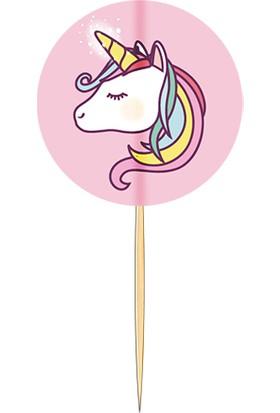 Pasta Cumhuriyeti Unicorn Tek Boynuzlu At Kürdan 10lu