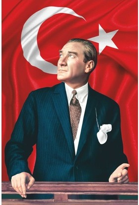 Meteor Gönder Bayrak Atatürk Posteri Raşel Kumaş 70X105