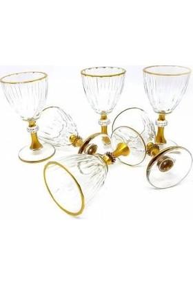 Paşabahçe Diamond Gold 6 Adet Kahve Yanı Su Bardağı