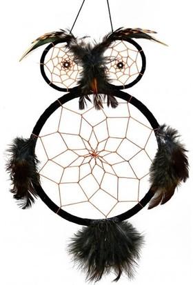 Miamantra Siyah Baykuş Şeklinde Rüya Kapanı