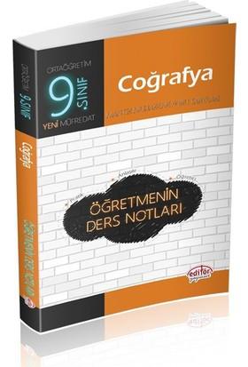 Editör Yayınları 9. Sınıf Coğrafya Öğretmenin Ders Notları
