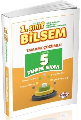 Editör Yayınları 1. Sınıf BİLSEM Tamamı Çözümlü 5 Deneme Sınavı