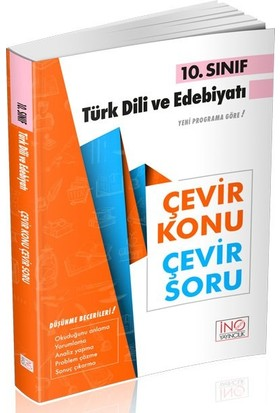 İnovasyon Yayınları 10. Sınıf Türk Dili ve Edebiyatı Çevir Konu Çevir Soru
