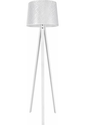 Modelight Deko Lambader Beyaz Ayak / File Beyaz Şapka