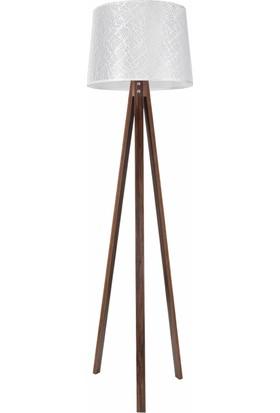 Modelight Deko Lambader Ceviz Ayak / File Beyaz Şapka