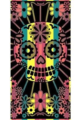 Özdilek Nice Pink Skull 70*150 Cm Plaj Havlusu