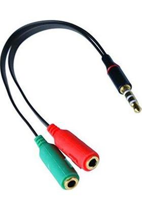 Platoon Mikrofonlu Kulaklık İçin 3,5mm Birleştirici Splitter Kablo