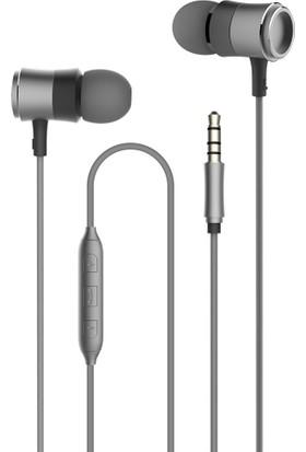 Vidvie HS626 Metal 3.5mm Mikrofonlu Kulaklık - Gri