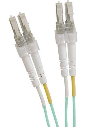 Excel 200-043 Enbeam OM3 Fibre Optic Patch Lead LC-LC Multimode 50/125 Duplex LS0H Aqua 1 m