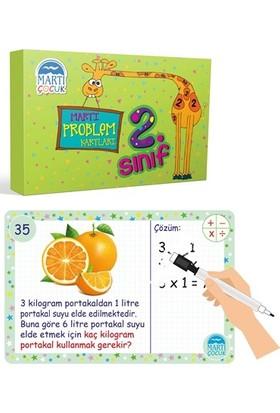 Martı Problem Kartları 2. Sınıf / Silinebilir Kalemli - Refik Çapar
