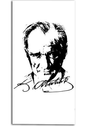 Tablo Kanvas Atatürk İmzalı Portre Tablo