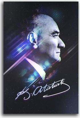 Tablo Kanvas Efektli Mustafa Kemal Atatürk Tablo