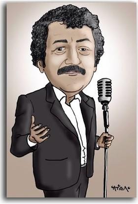 Tablo Kanvas Müslüm Gürses Karikatür Tablo