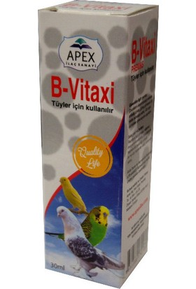 Apex B-Vitax B Vitamini Tüyler İçin 30 Ml