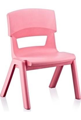 Irak Plastik Jumbo Çocuk Sandalye No2 Büyük Pembe