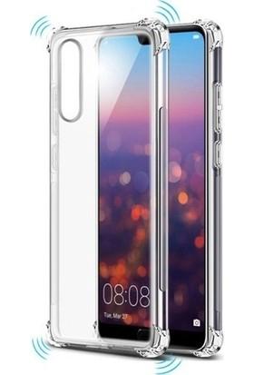 KNY Huawei P Smart 2019 Kılıf Ultra Korumalı Şeffaf Antishock Silikon + Cam Ekran Koruyucu - Şeffaf