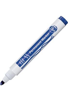 Bion Permanent Marker 9175- Yuvarlak Uç - Mavi 12 Li