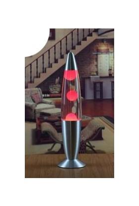 Katarsis Dekorfatif Lav Lambası Işıklı Büyük Boy Kırmızı