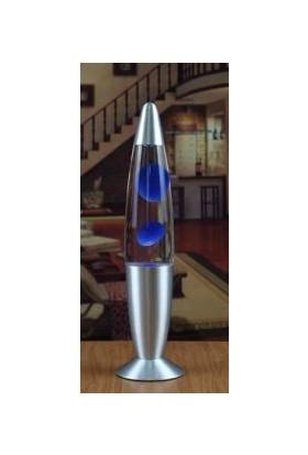 Katarsis Dekorfatif Lav Lambası Işıklı Büyük Boy Mavi
