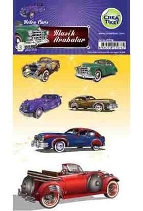 Crea Etiket Çıkartma Klasik Arabalar 1076