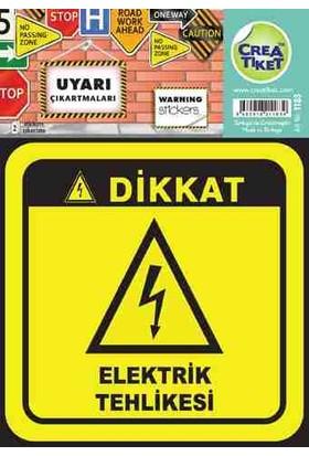 Crea Etiket Uyarı Elektrik Tehlikesi İşareti 1183