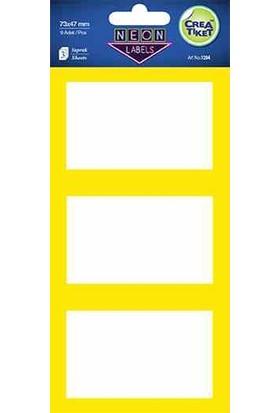 Crea Etiket Sarı Neon Etiket 1204