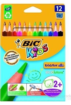 Bic Evolutıon 12+1 Üçgen Jombo Boya Kalemi 958192