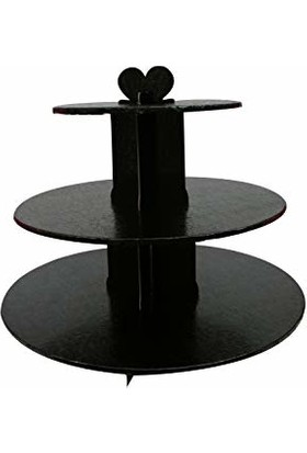 Parti Feneri Siyah Puantiyeli Cupcake Standı