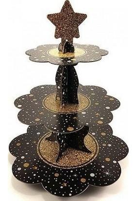 Parti Feneri Işıltılı Cup Cake/ Kek Standı