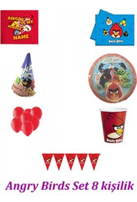 Parti Feneri 8 Kişilik Angry Birds Ekonomik Parti Seti