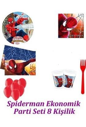 Parti Feneri Spiderman Ekonomik Parti Seti 8 Kişilik