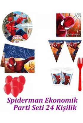 Parti Feneri Spiderman Ekonomik Parti Seti 24 Kişilik