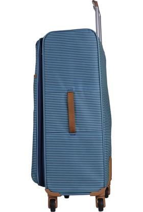 f64efae0ad4dc ... It Luggage Ultra Light Büyük ve Kabin Boy Kumaş Valiz Seti Çizgili Yeşil  2262