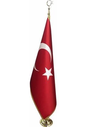 Meteor Makam Türk Bayrağı Simli 100X150