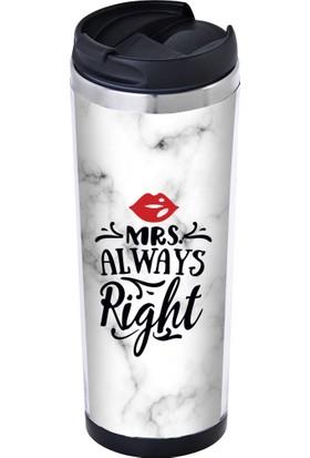 Allmug İçi Çelik Termos Mrs. Always Right Mug 350 ml