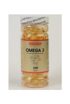 Nutrita Nutrition Omega 3 Balık Yağı 200 Kapsül