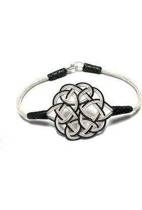 Midyat Gümüş Dünyası 20123996 1000 Ayar El Örmesi Beyaz Unisex(Bay,Bayan) Gümüş Kazaziye Bileklik