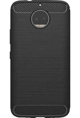 Microcase Motorola Moto G5S Plus Brushed Carbon Fiber Silikon Kılıf