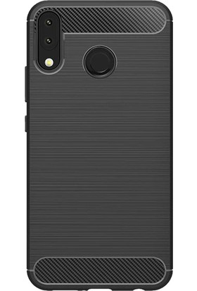 Microcase Zenfone 5z ZS620KL Brushed Carbon Fiber Silikon Kılıf