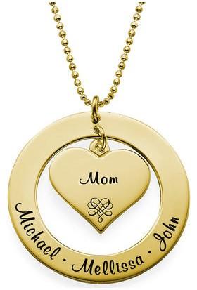 Grandhanra Kalp Ve Halka İsimli Gümüş Kolye