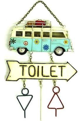 Evim Tatlı Evim Kapı Süsü Metal Minibüs Toılet