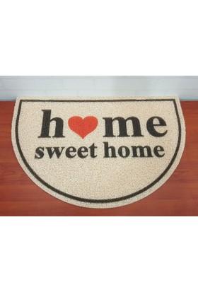 Evim Tatlı Evim Kapı Önü Paspas Oval 40 x 60 cm