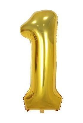 Sevinç 40 İnç 1 Rakam Gold Folyo Özel Günler Ve Doğum Günleri İçin