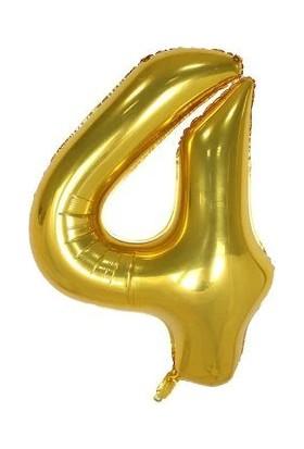 Sevinç 40 İnç 4 Rakam Gold Folyo Özel Günler Ve Doğum Günleri İçin