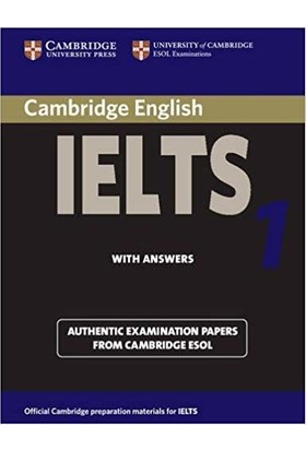 Cambridge Practice Tests For Ielts 1 Self-Study Student'S Book Ielts Practice Tests