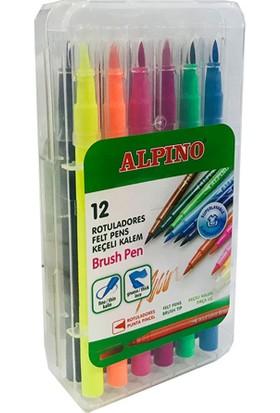 Alpino Alpino Fırça Uçlu Keçeli Kalem 12'Li