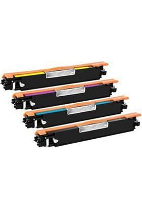 Powertiger For HP Laserjet Pro 100 Renkli MFP M175A 126A Takım 4 Renk Muadil Laserjet Toner Kartuşu