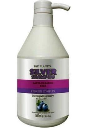 Fd Plantix Silver Şampuan Keratin Complex Paraben Ve Tuz İçermez Kına,Yaban Mersini 500 ml
