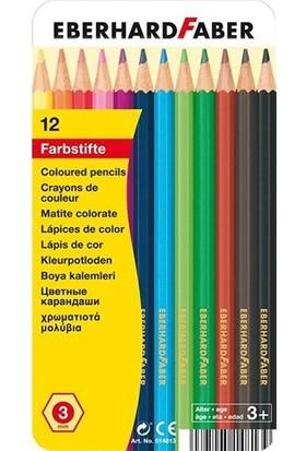 Eberhard-Faber 12li EFA kuruboya kalemi, 3mm mine - metal kutu